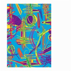 Colorful abstract pattern Small Garden Flag (Two Sides)