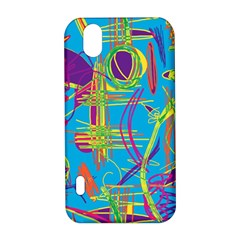 Colorful abstract pattern LG Optimus P970
