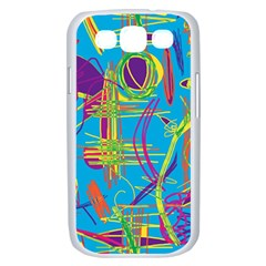 Colorful abstract pattern Samsung Galaxy S III Case (White)