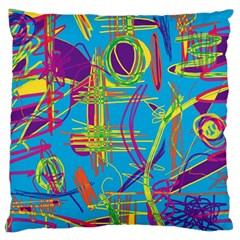 Colorful abstract pattern Large Cushion Case (One Side)