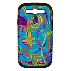 Colorful abstract pattern Samsung Galaxy S III Hardshell Case (PC+Silicone)