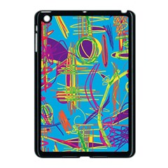 Colorful abstract pattern Apple iPad Mini Case (Black)