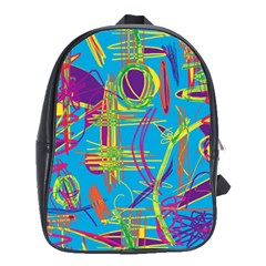 Colorful abstract pattern School Bags (XL)