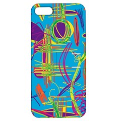 Colorful abstract pattern Apple iPhone 5 Hardshell Case with Stand