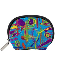 Colorful abstract pattern Accessory Pouches (Small)