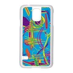 Colorful abstract pattern Samsung Galaxy S5 Case (White)