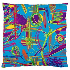 Colorful abstract pattern Large Flano Cushion Case (One Side)