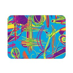 Colorful abstract pattern Double Sided Flano Blanket (Mini)
