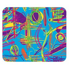 Colorful abstract pattern Double Sided Flano Blanket (Small)