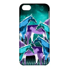 Horses Under A Galaxy Apple Iphone 5c Hardshell Case