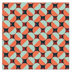 Modernist Geometric Tiles Large Satin Scarf (Square)
