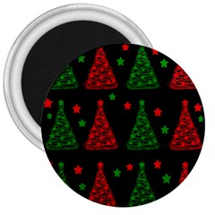 Decorative Christmas trees pattern 3  Magnets