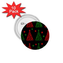 Decorative Christmas trees pattern 1.75  Buttons (10 pack)