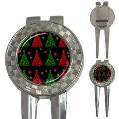 Decorative Christmas trees pattern 3-in-1 Golf Divots