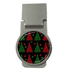 Decorative Christmas trees pattern Money Clips (Round)