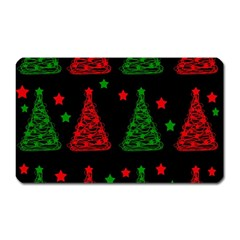 Decorative Christmas trees pattern Magnet (Rectangular)
