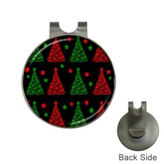 Decorative Christmas trees pattern Hat Clips with Golf Markers