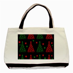 Decorative Christmas trees pattern Basic Tote Bag