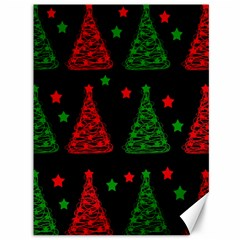 Decorative Christmas trees pattern Canvas 36  x 48