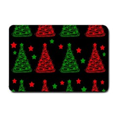 Decorative Christmas trees pattern Small Doormat