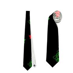 Decorative Christmas trees pattern Neckties (One Side)