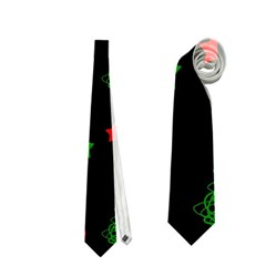 Decorative Christmas trees pattern Neckties (Two Side)