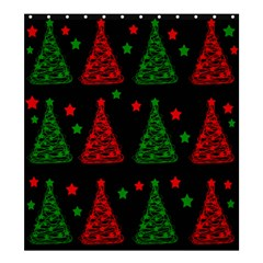 Decorative Christmas trees pattern Shower Curtain 66  x 72  (Large)