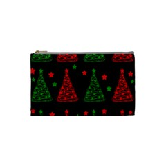Decorative Christmas trees pattern Cosmetic Bag (Small)