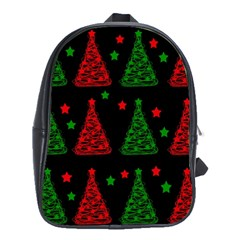 Decorative Christmas trees pattern School Bags(Large)