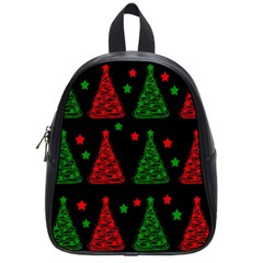 Decorative Christmas trees pattern School Bags (Small)