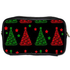 Decorative Christmas trees pattern Toiletries Bags 2-Side