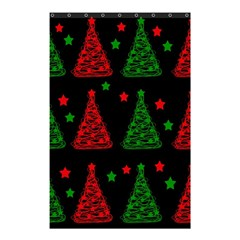 Decorative Christmas trees pattern Shower Curtain 48  x 72  (Small)