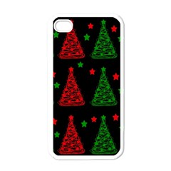 Decorative Christmas trees pattern Apple iPhone 4 Case (White)