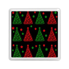 Decorative Christmas trees pattern Memory Card Reader (Square)