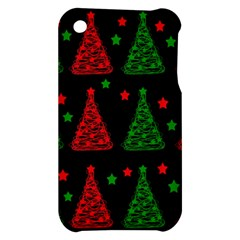 Decorative Christmas trees pattern Apple iPhone 3G/3GS Hardshell Case