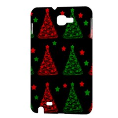 Decorative Christmas trees pattern Samsung Galaxy Note 1 Hardshell Case
