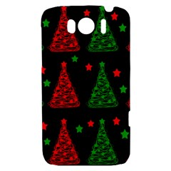 Decorative Christmas trees pattern HTC Sensation XL Hardshell Case