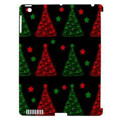 Decorative Christmas trees pattern Apple iPad 3/4 Hardshell Case (Compatible with Smart Cover)