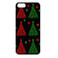 Decorative Christmas trees pattern Apple iPhone 5 Seamless Case (White)
