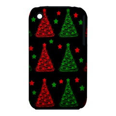 Decorative Christmas trees pattern Apple iPhone 3G/3GS Hardshell Case (PC+Silicone)