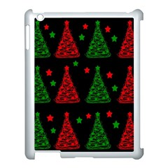 Decorative Christmas trees pattern Apple iPad 3/4 Case (White)
