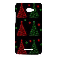 Decorative Christmas trees pattern HTC Butterfly X920E Hardshell Case