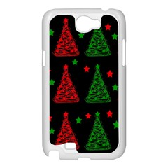 Decorative Christmas trees pattern Samsung Galaxy Note 2 Case (White)