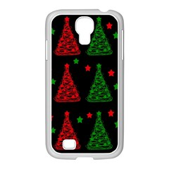 Decorative Christmas trees pattern Samsung GALAXY S4 I9500/ I9505 Case (White)