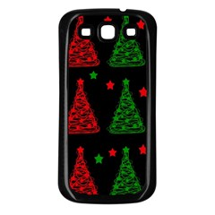 Decorative Christmas trees pattern Samsung Galaxy S3 Back Case (Black)
