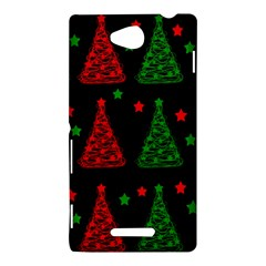 Decorative Christmas trees pattern Sony Xperia C (S39H)