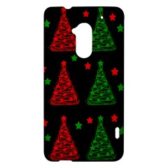 Decorative Christmas trees pattern HTC One Max (T6) Hardshell Case