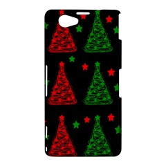 Decorative Christmas trees pattern Sony Xperia Z1 Compact