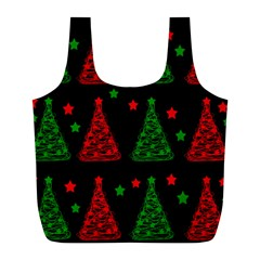 Decorative Christmas trees pattern Full Print Recycle Bags (L)