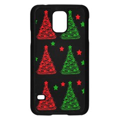 Decorative Christmas trees pattern Samsung Galaxy S5 Case (Black)